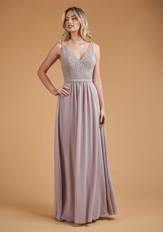 B2 Bridesmaids by Jasmine B223061 V-Neck Bridesmaid Dress