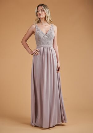 B2 Bridesmaids by Jasmine B223061 V-Neck Bridesmaid Dress