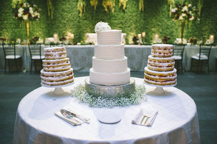 Fruit-Filled Naked Cakes and Combed Buttercream Cake