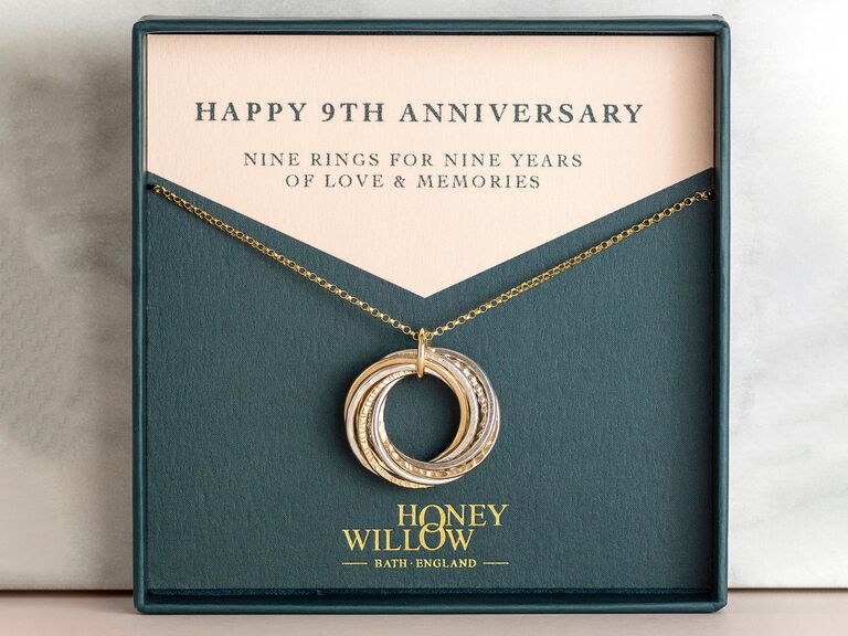 Honey Willow Wedding 9-ring necklace
