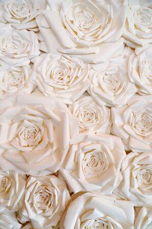 Statement Paper Flower Backdrop