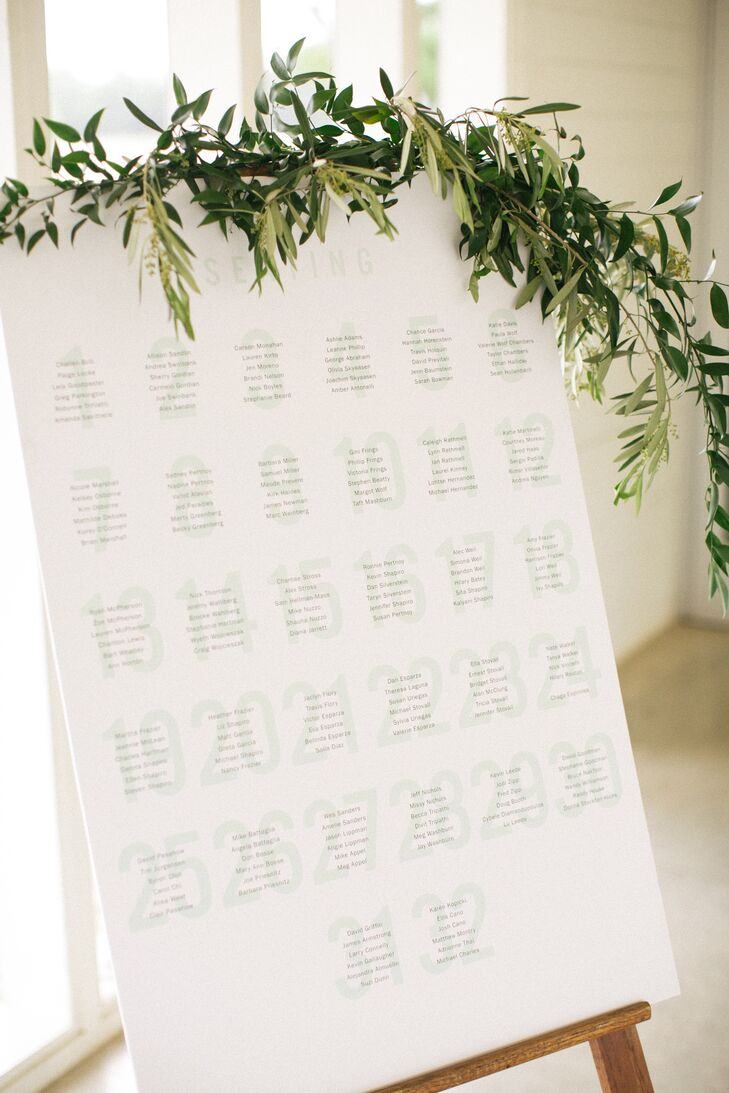 Simple, Modern Seating Chart