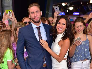 Kaitlyn Bristowe shows off her engagement ring and her new fiancé Shawn Booth.