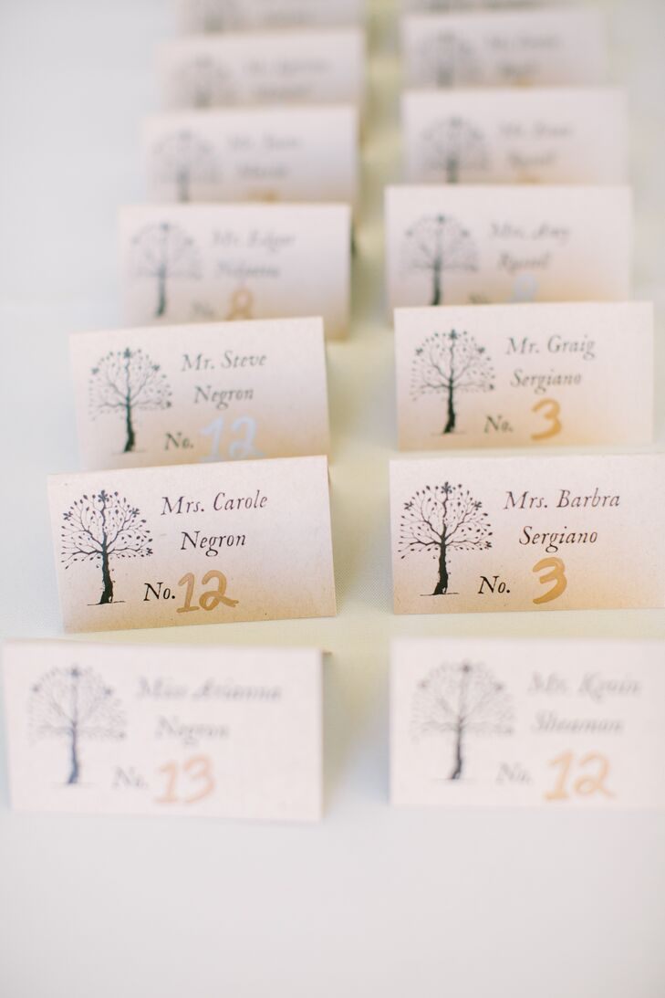 Tree Motif Escort Cards