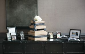 DIY Reception Welcome Table