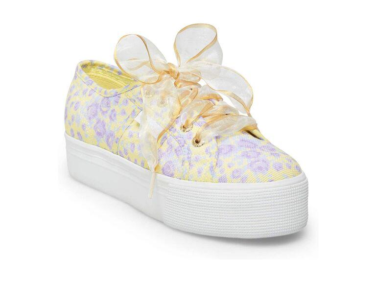 Purple floral wedding sneakers