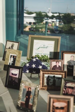 Table Honoring Family Military Officers