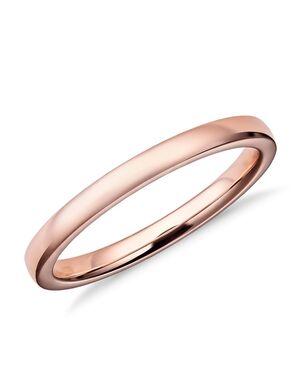 Blue Nile 47122 Rose Gold Wedding Ring