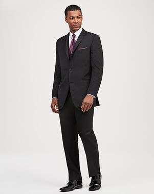 Jos. A. Bank 2-Button Notch Lapel Black Suit Black Tuxedo