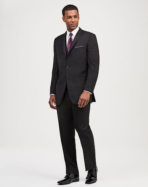 Jos. A. Bank 2-Button Notch Lapel Black Suit Black Tuxedo