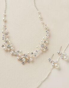USABride Delicate Pearl Jewelry Set (JS-1637) Wedding Necklace photo
