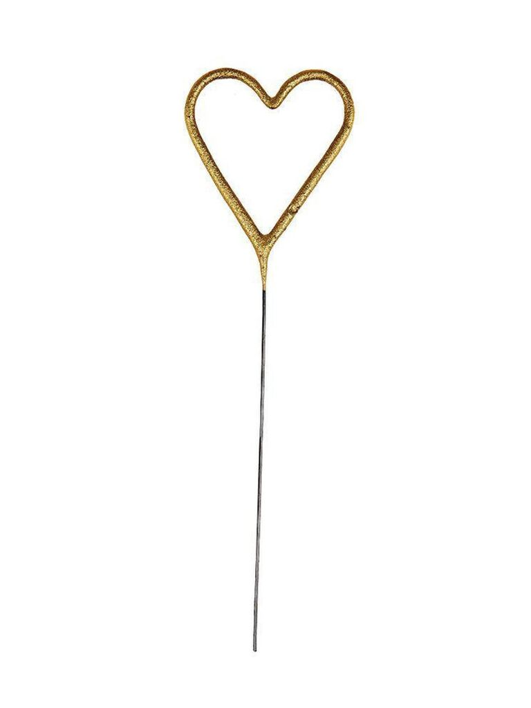 Heart sparkler for bachelorette party decoration