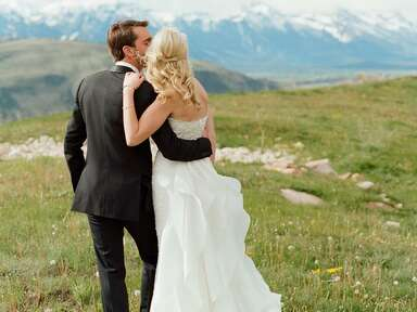 The most beautiful mountainside wedding locations, Jackson Hole, Wyoming​