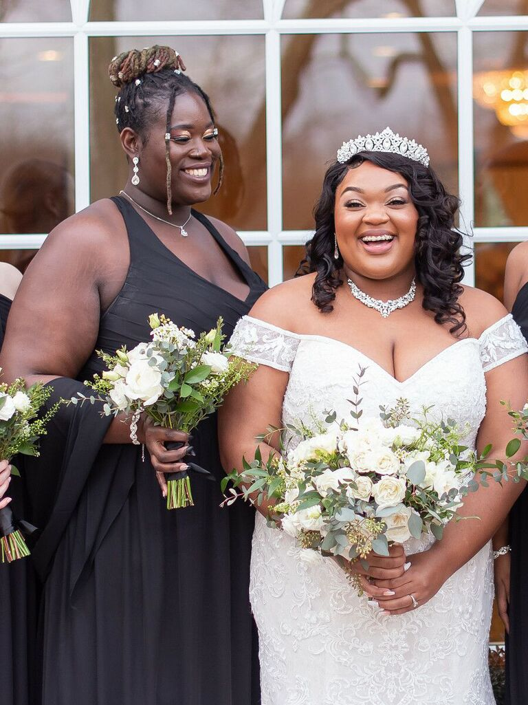 Bridesmaid updos top knot