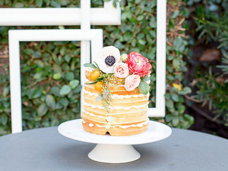 """Waffle Bridal Shower """"Cake"""" With Cream"""