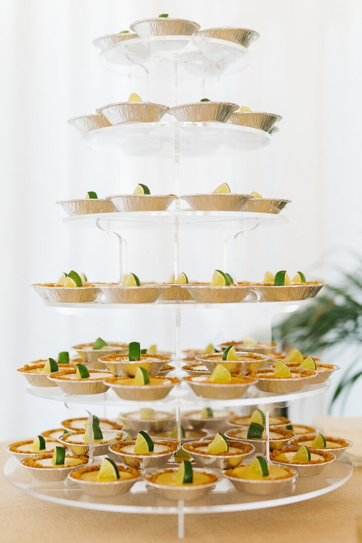 """Rather than serve wedding cake, the newlyweds had a spread of mini key lime pies for dessert. """"What's more Keys than that?"""" Kay says."""