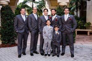 Traditional Gray Groomsmen Suits