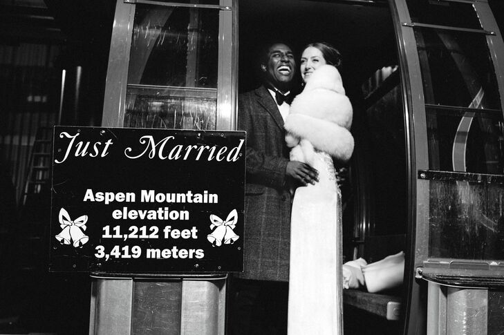 With the sound of alphorns in the background, the pair exited their wedding on a private gondola.