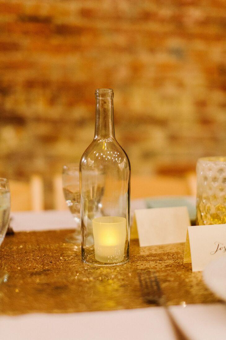 Diy Wine Bottle Candleholders