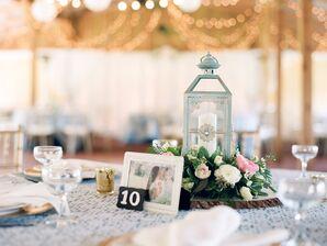 Rustic Ranch Wedding Reception Centerpieces