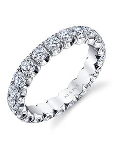 MARS Fine Jewelry MARS Jewelry FCET-2 Wedding Band White Gold Wedding Ring