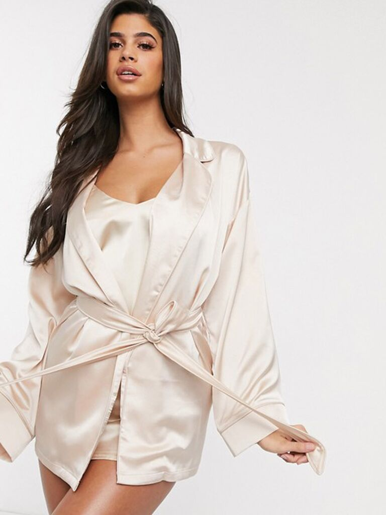 Luxe bridal robe