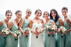 Sage Jim Hjelm Bridesmaid Dresses