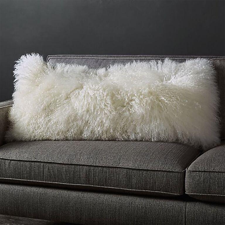 Pelliccia Mongolian sheepskin pillow