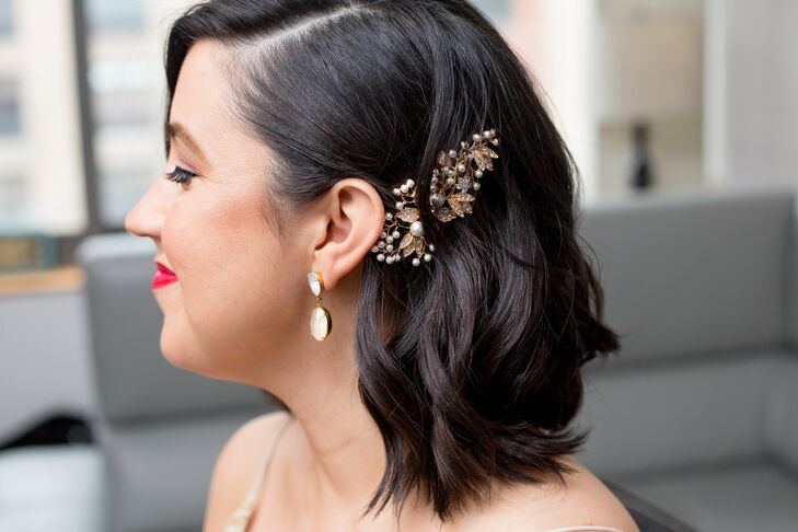 Glamorous, Vintage-Inspired Jeweled Hairpiece