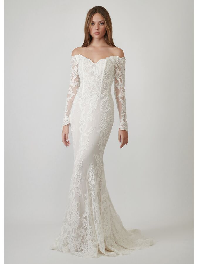 Lihi Hod Couture off-the-shoulder lace wedding dress