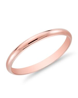 Blue Nile 44623 Rose Gold Wedding Ring