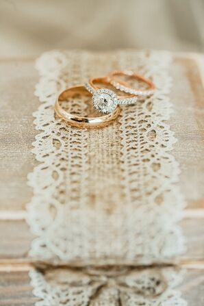 Classic Wedding Band, Wedding Ring and Engagement Ring