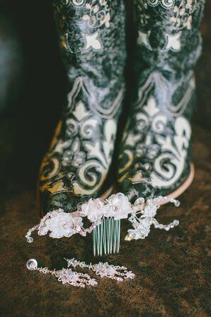 Bride's Embellished Boots