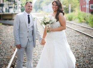 Crystal Marino (26 and a developmental-disabilities registered nurse) and Eric Lundstrom's (29 and a sanitation worker) wedding was a rustic, chic aff