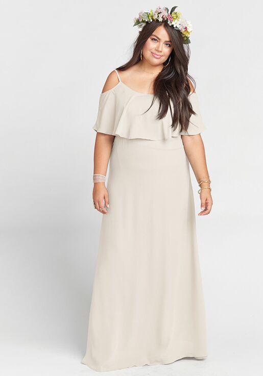 63cf6747fe11f Show Me Your Mumu Caitlin Ruffle Maxi Dress - Show Me the Ring Crisp Scoop  Bridesmaid