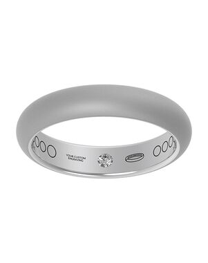 Everband 4mm Classic with Matte Gold, White Gold, Rose Gold, Platinum Wedding Ring