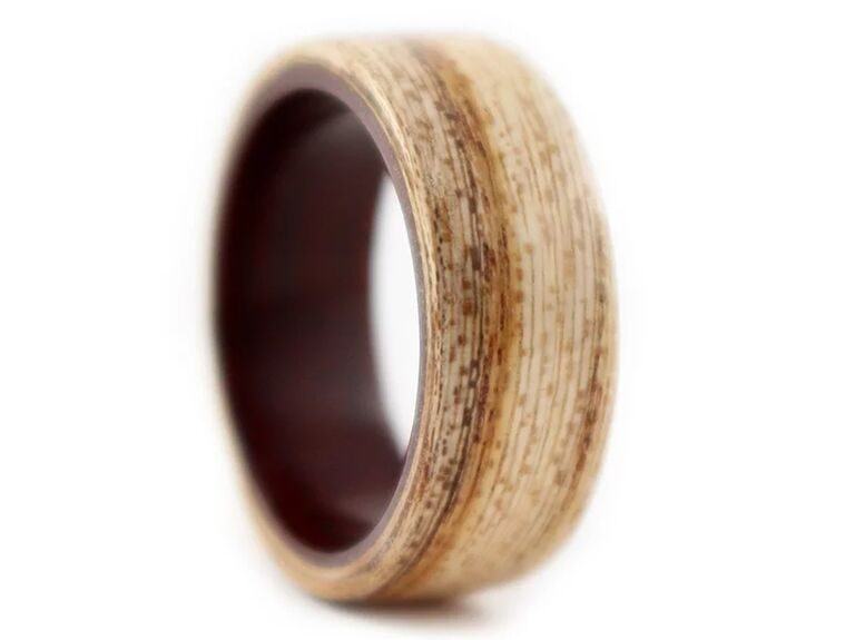 Simply Wood Rings hackberry and rosewood wood wing