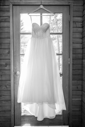 A Lace and Tulle Ball Gown