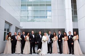 Formal Neutral, Black-and-White Wedding Party
