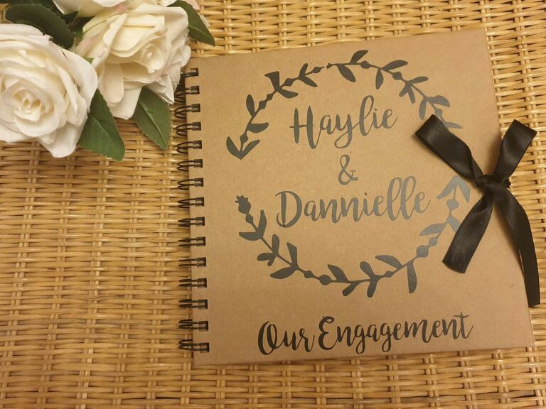 engagement scrapbook gift for fiance