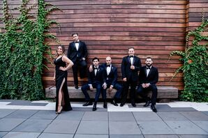 Formal Wedding Party  in Modern Outdoor Space