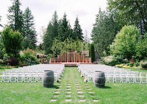 Modern Ceremony Site at Black Diamond Gardens in Washington