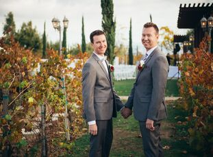 Tim Johnson (35 and a director of consumer lending) and Jonah Merchant (33 and a registered nurse) met through an online dating app and have their fir