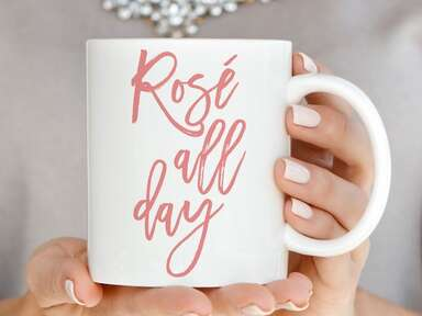 Rosé All Day coffeemug from Amazon Handmade