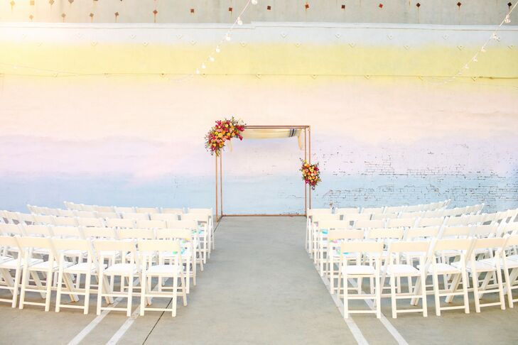 Chuppah for Jewish Wedding at the Unique Space in Los Angeles, California
