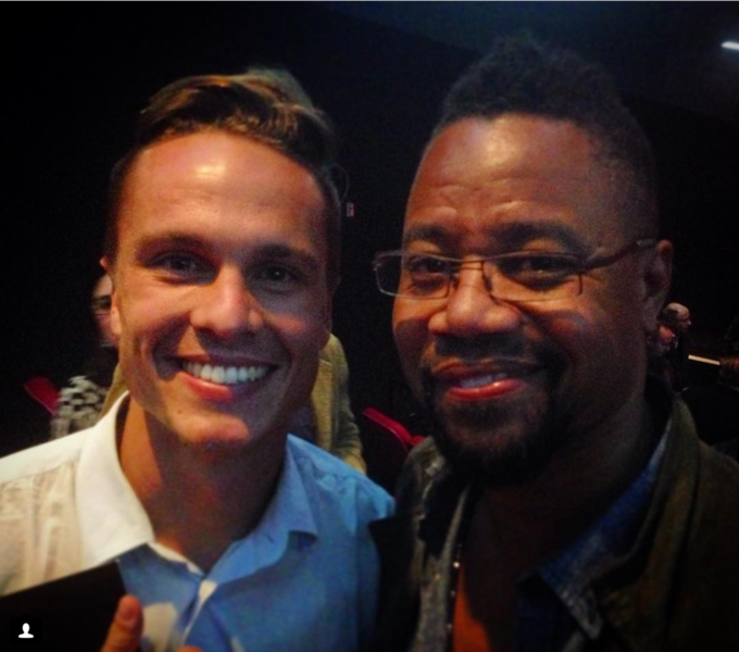 Photo with Cuba Gooding Jr.