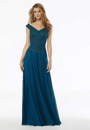 MGNY 72134 Blue Mother Of The Bride Dress