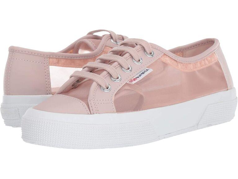 Blush pink wedding sneakers