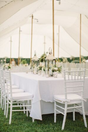 White Spring Reception Decor
