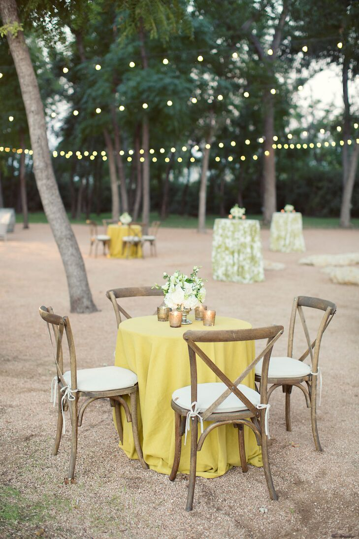White and Green Reception Tables